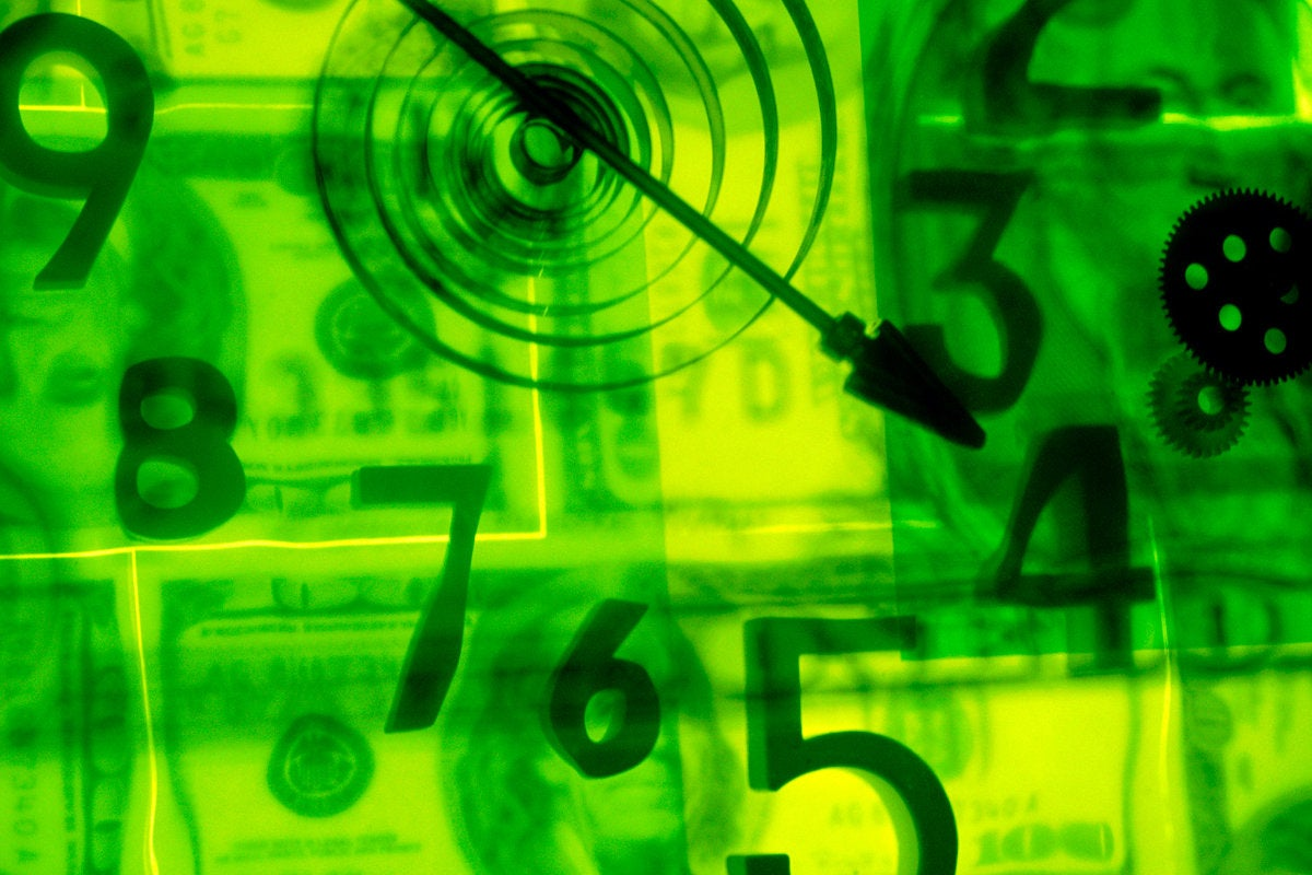 money time clock numbers abstract