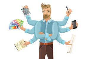 multi tasking project management designer