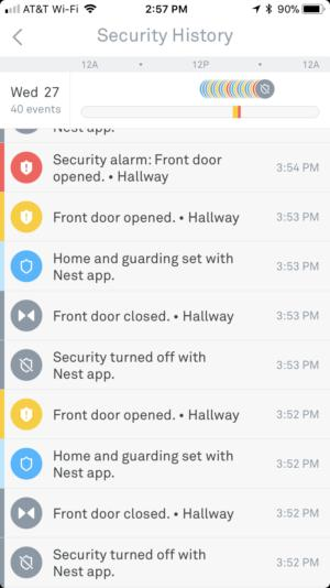 Nest Secure app