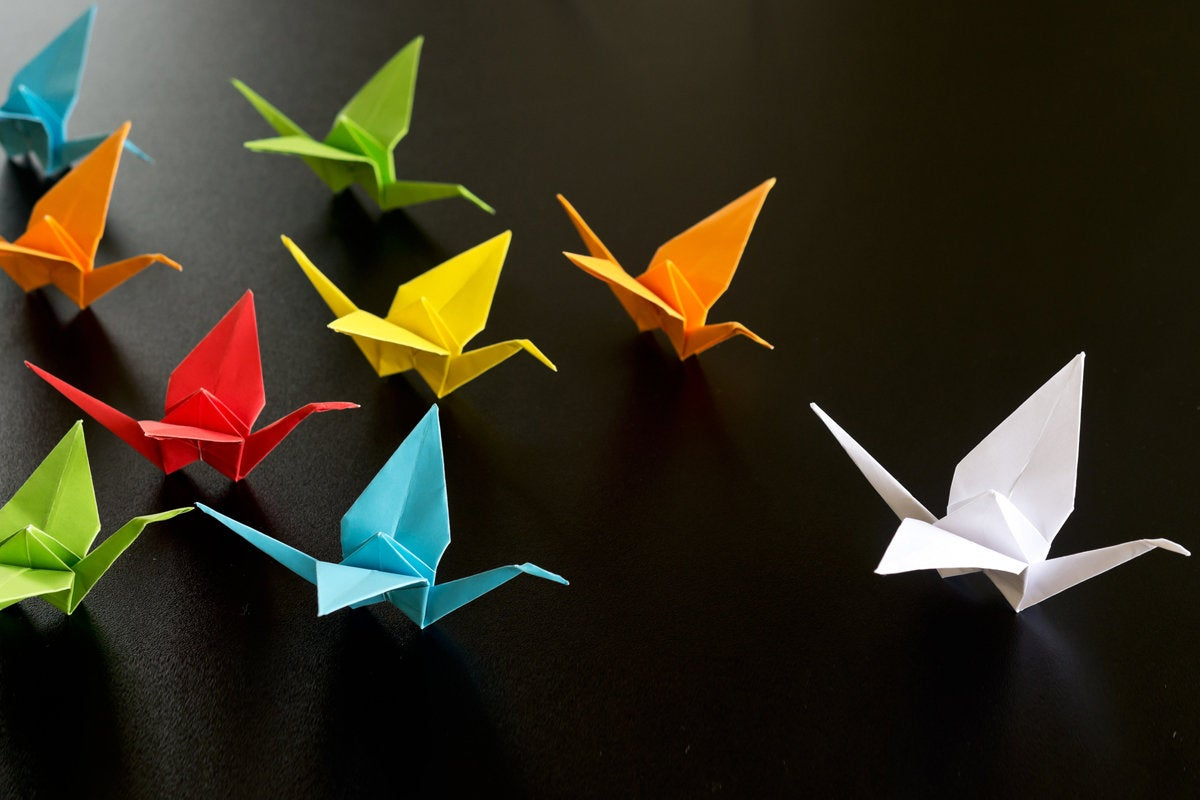 oragami birds flock leadership