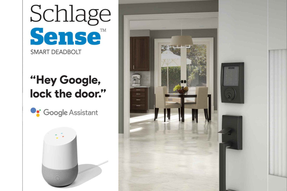 schlage sense and google assistant header