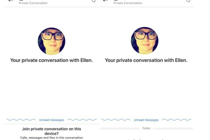 skype private conversations
