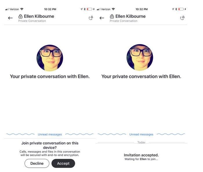 skype private conversations