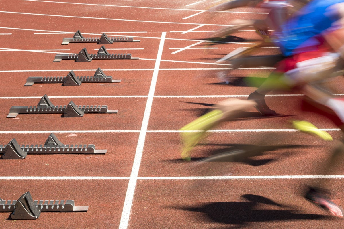 sprint competition fast speed start