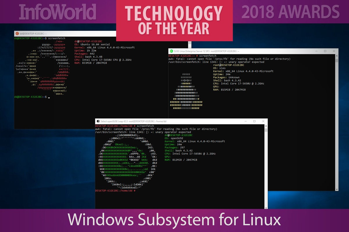 toy2018 windows subsystem linux