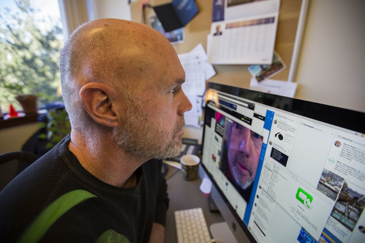 videoconferencia extreme closeup oficina