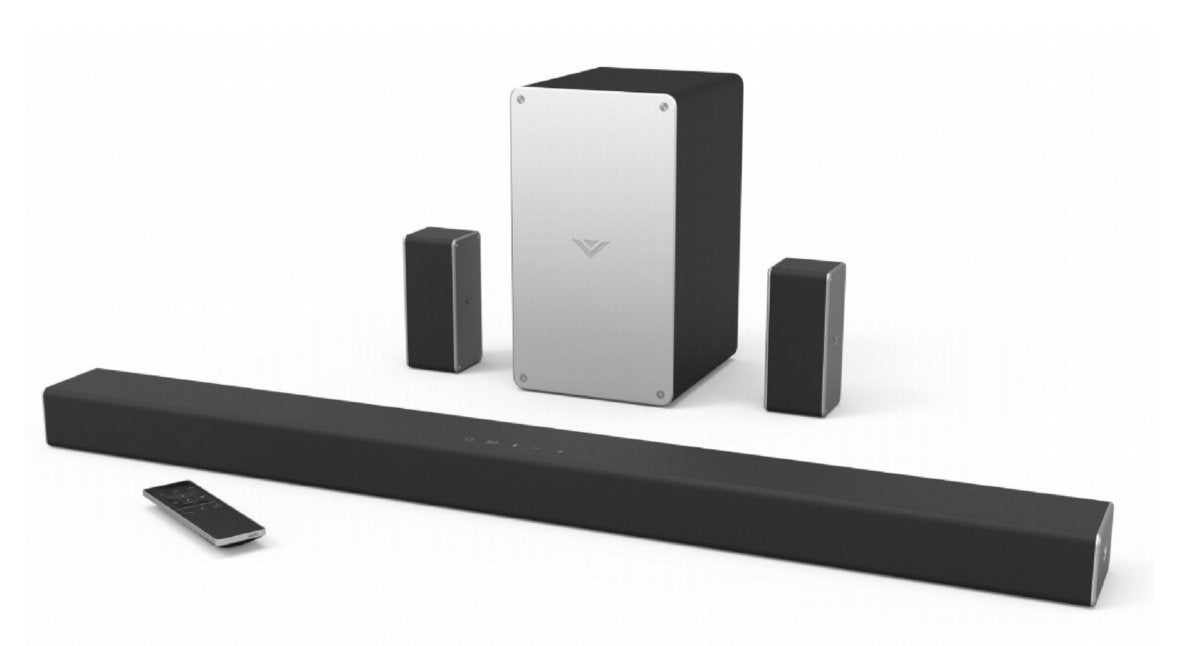 Vizios Sound Bar System Has Three Channels On The And Discrete Left Right