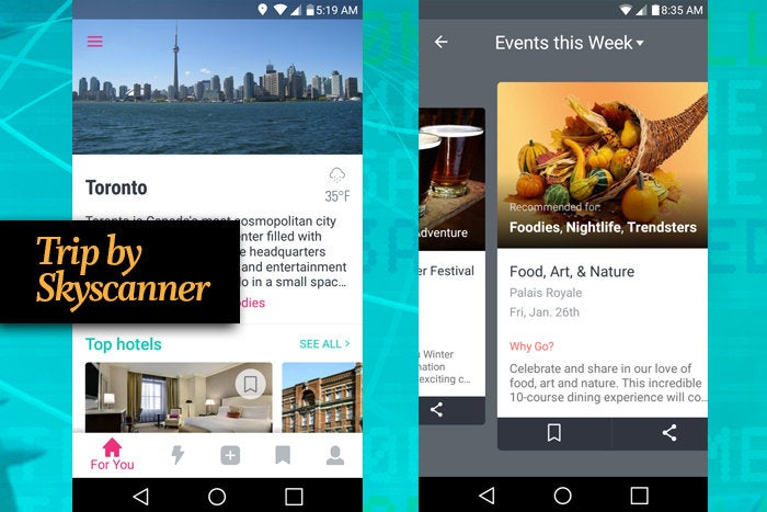 Trip by Skyscanner mobile app for business travel