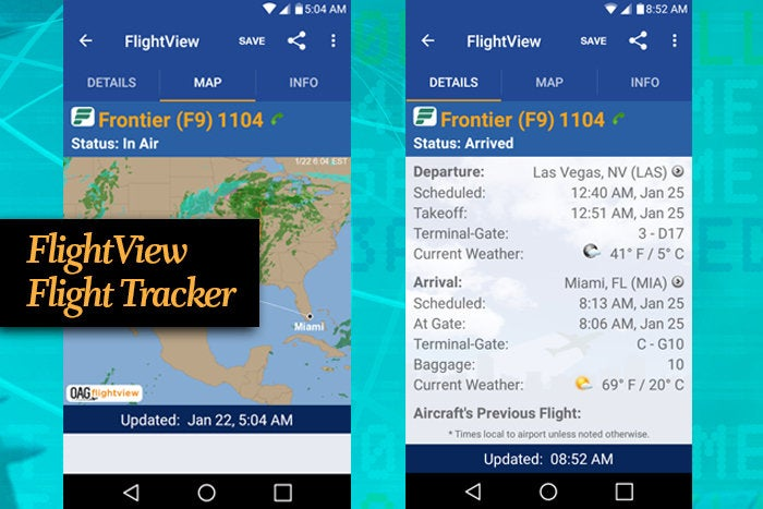 FlightView Flight Tracker mobile app for business travel