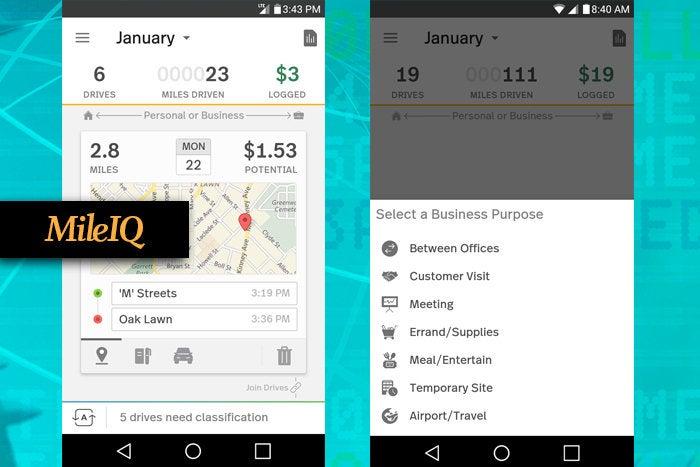 MileIQ mobile app for business travel