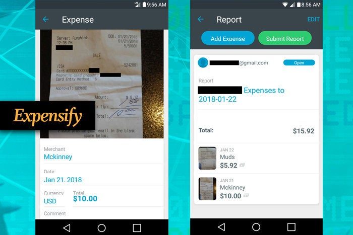 Expensify mobile app for business travel