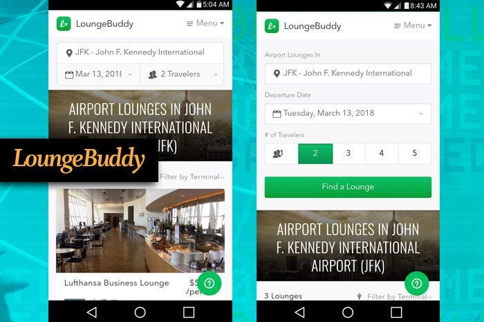LoungeBuddy mobile app for business travel