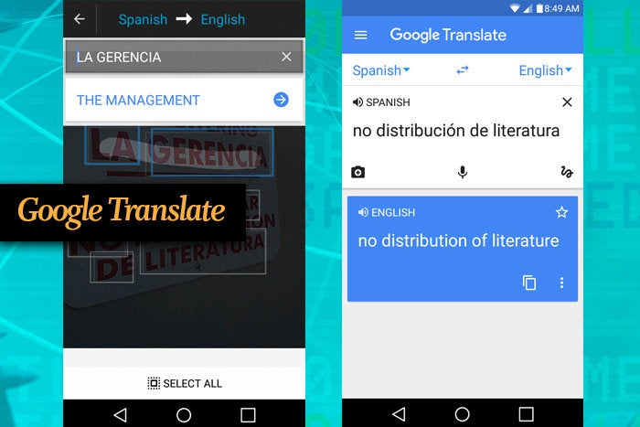 Google Translate mobile app for busines travel