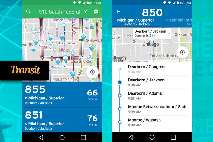 Transit mobile app for business travel
