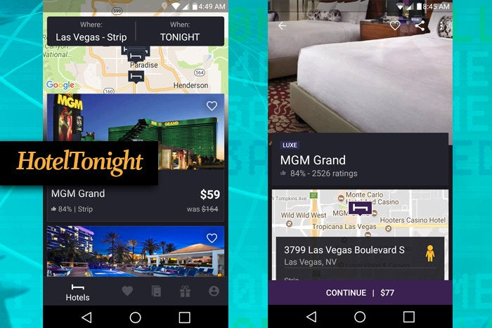 HotelTonight mobile app for business travel