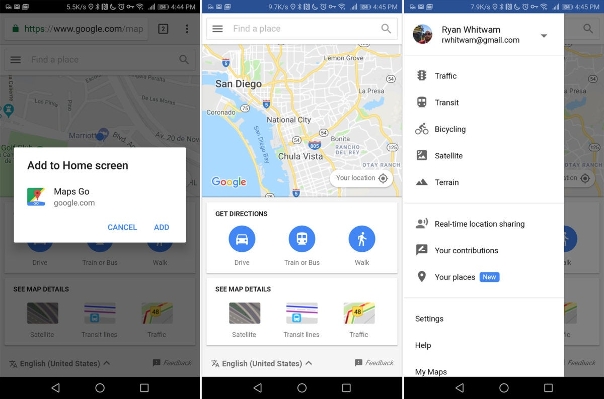 android lite apps maps
