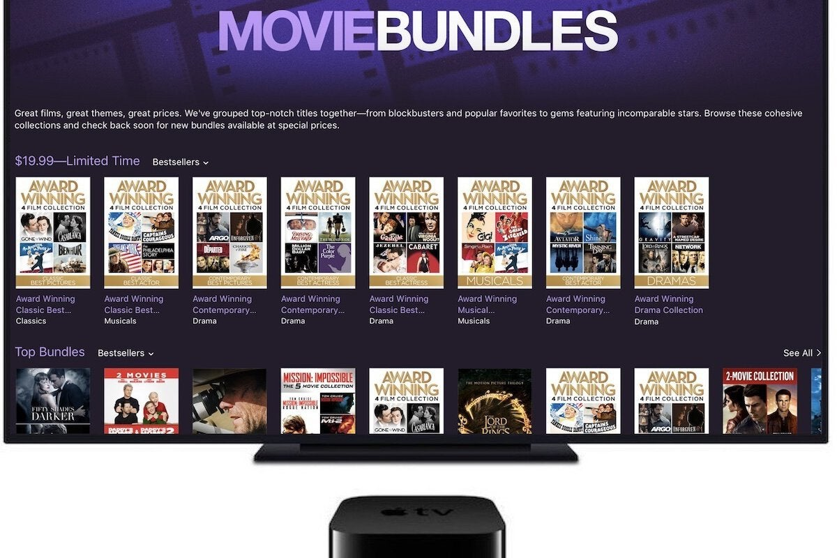photo image Ahead of the Oscars, Apple offers $19.99 movie bundles and discounts