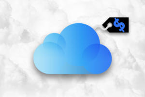Apple iCloud storage cost - iCloud logo and price tag