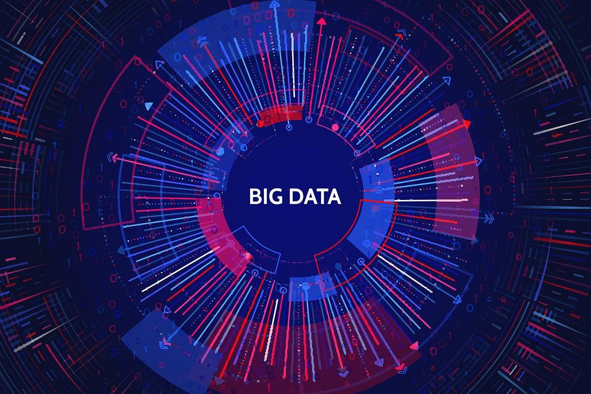 big data abstract visualization