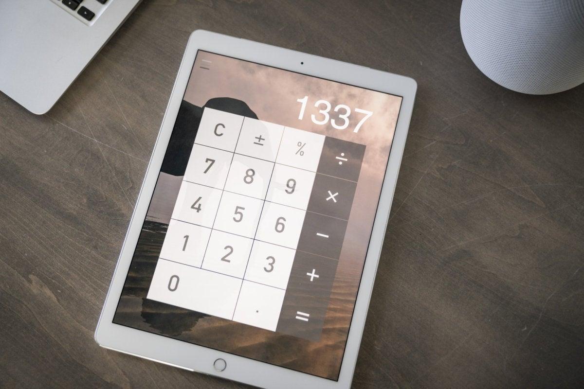 calculator on ipad