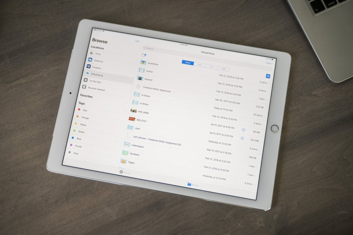 File management on the iPad Pro
