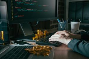 virtual transactions - digital money - cryptocurrency - blockchain