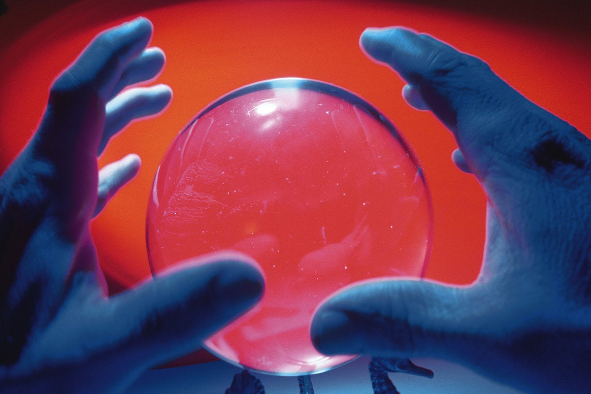 consulting a crystal ball