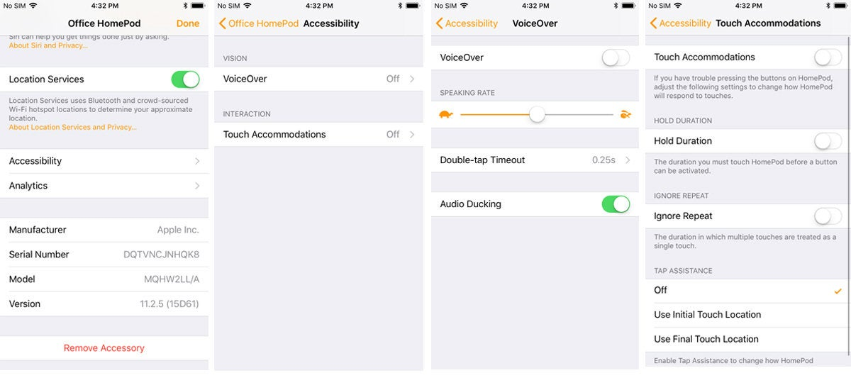 homepod accessibility