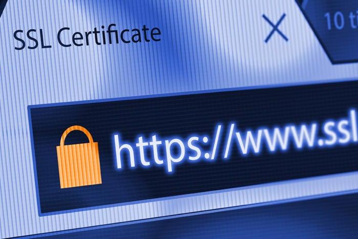 secure encrypted internet web browser address bar