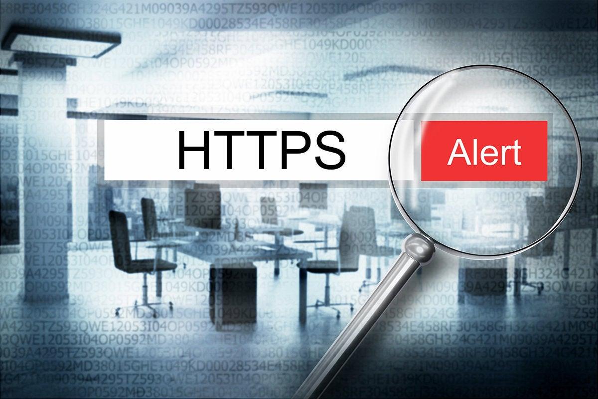 secure encrypted internet web browser alert