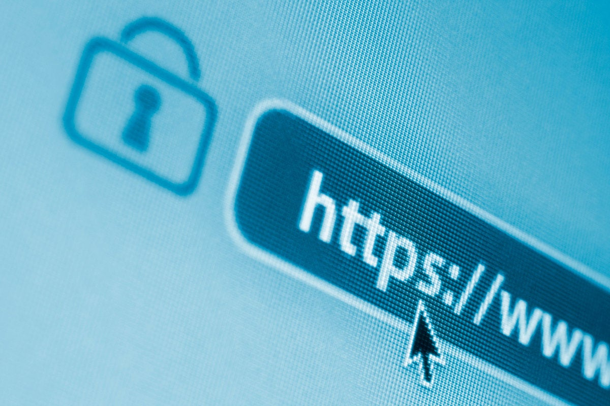 secure encrypted internet web browser address bar