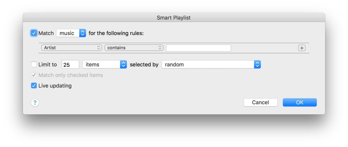 itunes smart playlists