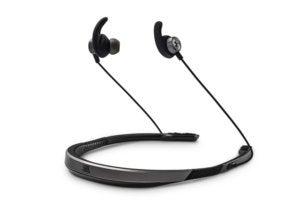 JBL UA Sport Wireless Flex headphones.