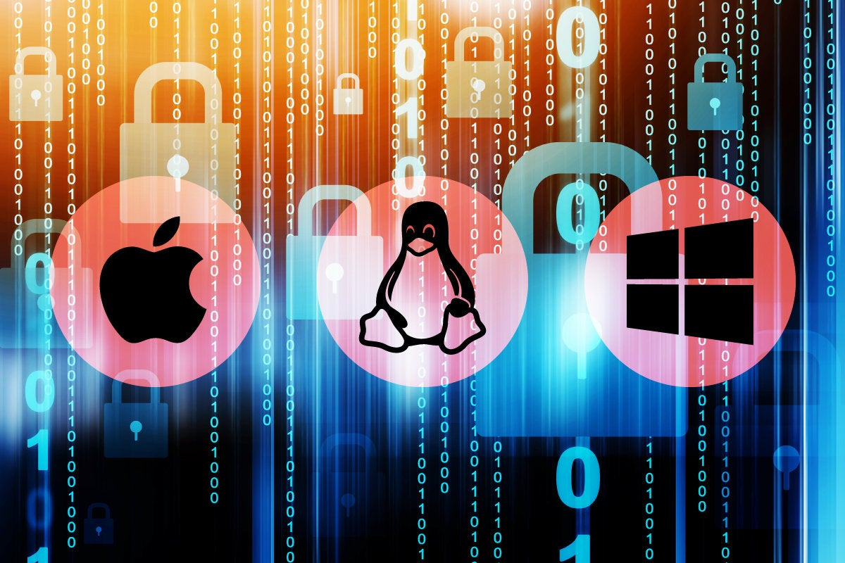 Linux, macos and Windows security locks up data