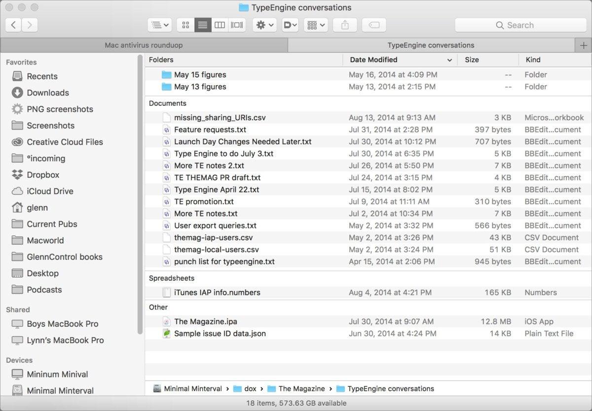 mac911 finder arrange by no triangles