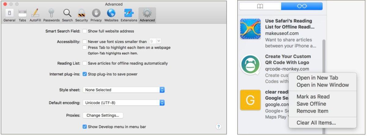 mac911 offline reading list settings