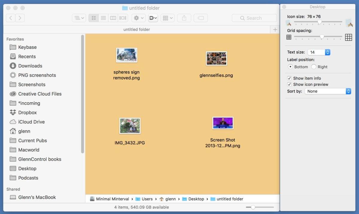 mac911 set folder like desktop