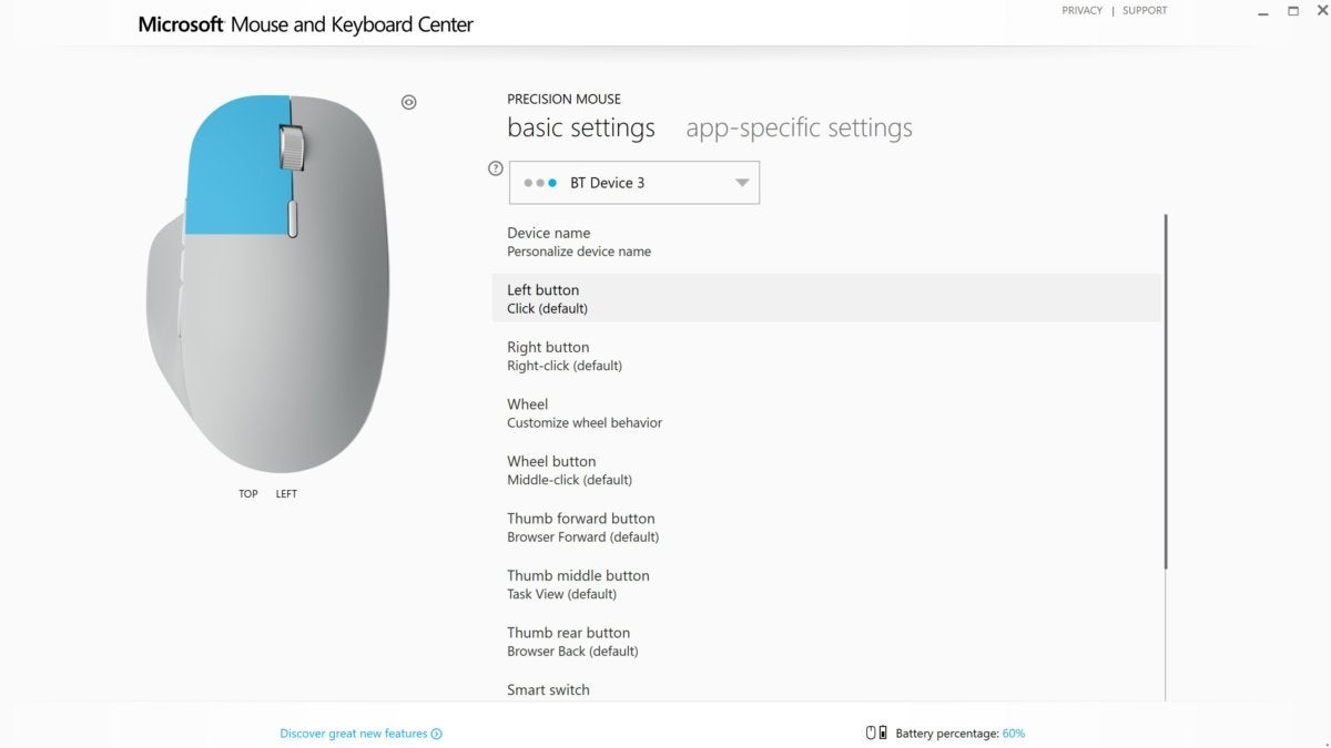 microsoft mouse and keyboard center screenshot