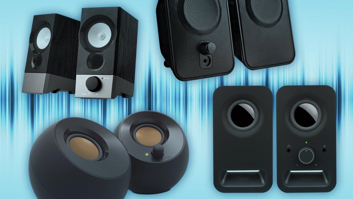 Desktop Computer Speaker Multimedia Music Sound System Headphone Output Jack