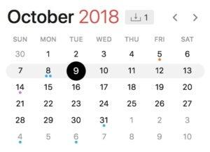 oct. 9 2018