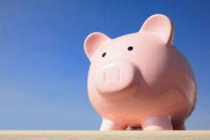 personal finance concept piggy bank sky resized