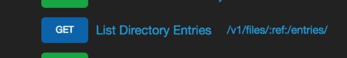 qumulo api directory entries