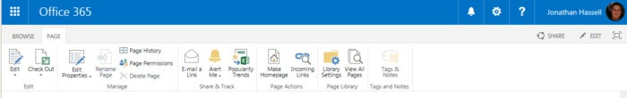 SharePoint Online - Ribbon