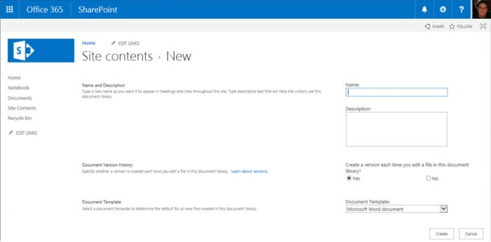 SharePoint Online - site contents new f6f3d70dda6