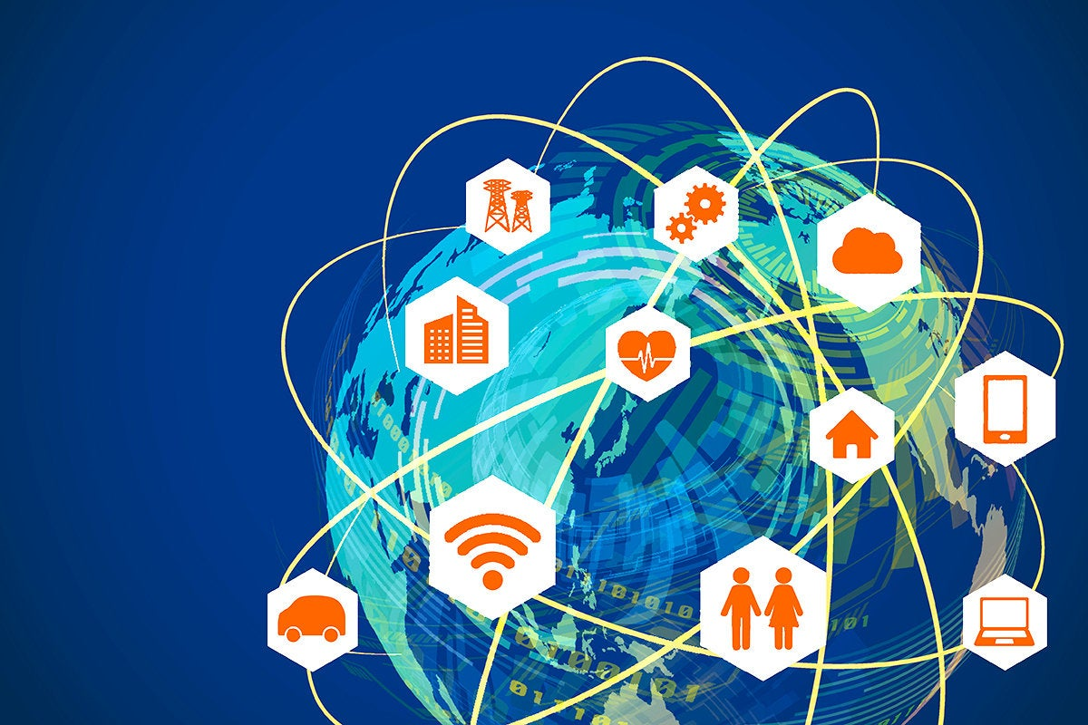smart cities - IoT internet of things - global wireless network