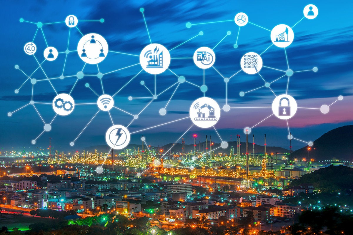 smart city - IoT internet of things - wireless network