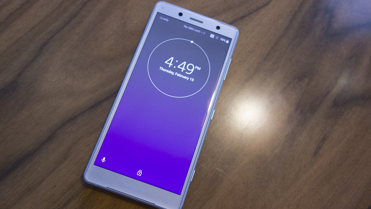 sony xz2 compact front