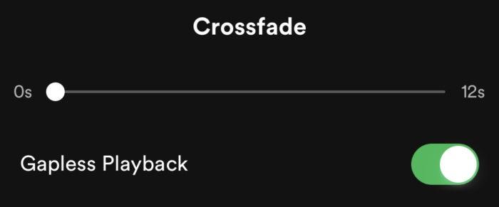 spotify crossfade