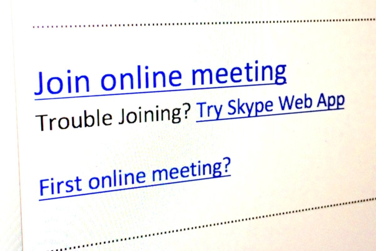 SfB slide 4 join skype for business meeting
