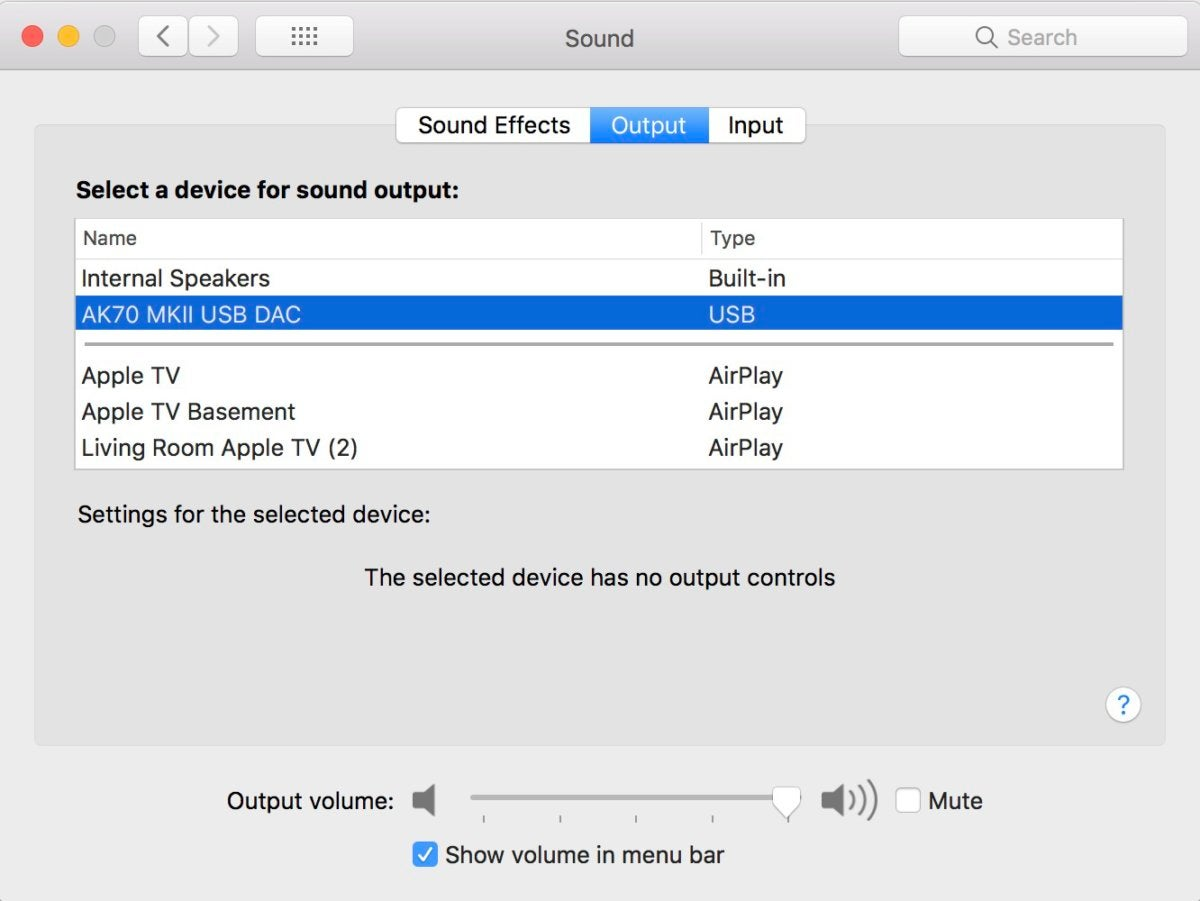 I was able to use the AK70 MKII as a USB DAC with my Mac.